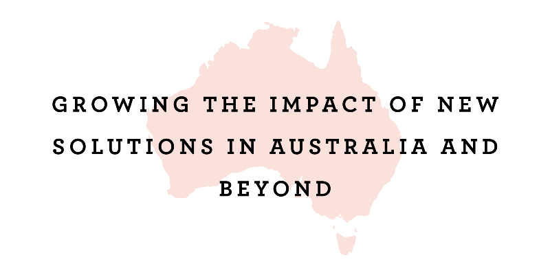 Trapped on site: scaling new practices in Australian schools