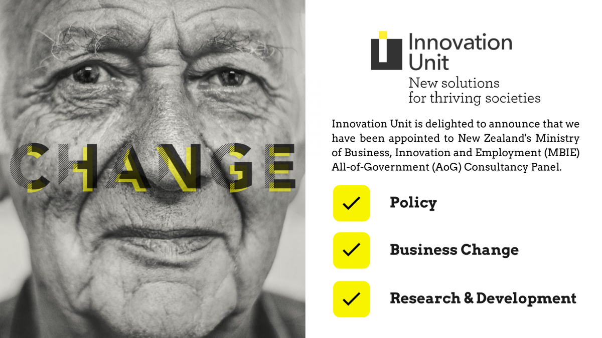Innovation Unit appointed to the Aotearoa New Zealand  All of Government (AoG) Consultancy Panel