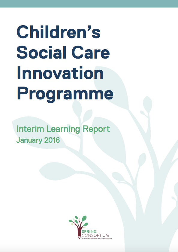 Interim learning report - DfE