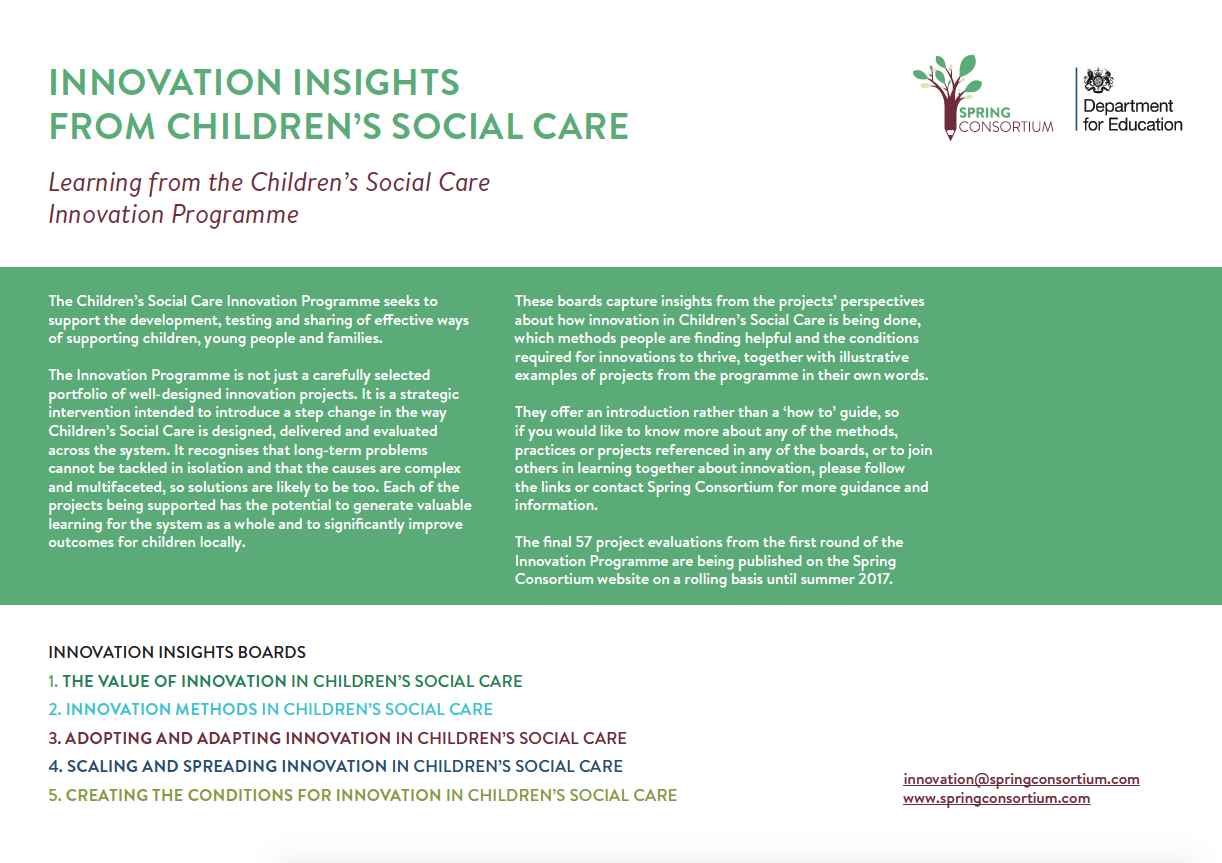 INNOVATION INSIGHTS CHILDRENS SOCIAL CARE