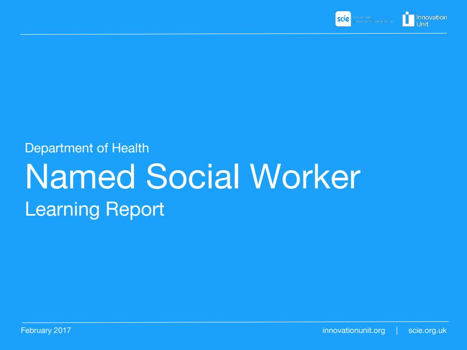 Named Social Worker learning report