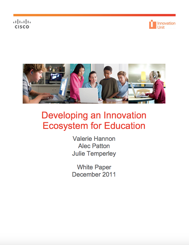 Developing an innovation ecosystem for education