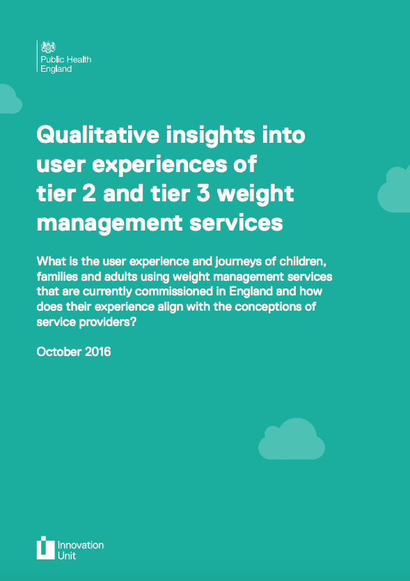 Qualitative insights into user experiences of tier 2 and tier 3 weight management services